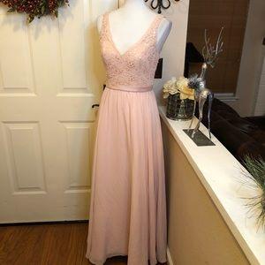 Stunning Mori Lee  Madeline Gardner Blush Gown